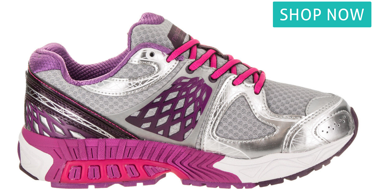 New Balance Women's 1340v2 in Silver with Pink Zing & Purple Cactus Flower