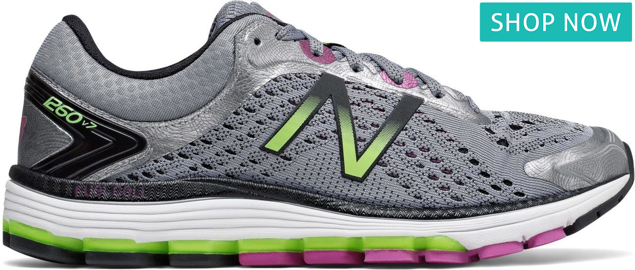 New Balance Women's 1260V7 in Steel/Poisonberry