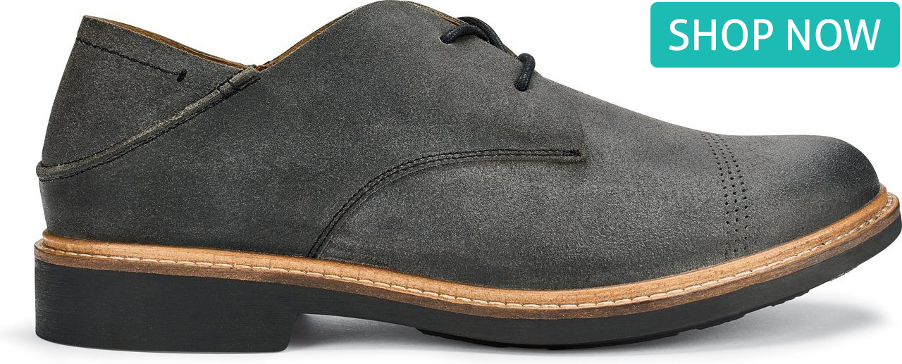 OluKai Men's Walino in Dark Shadow/Dark Shadow