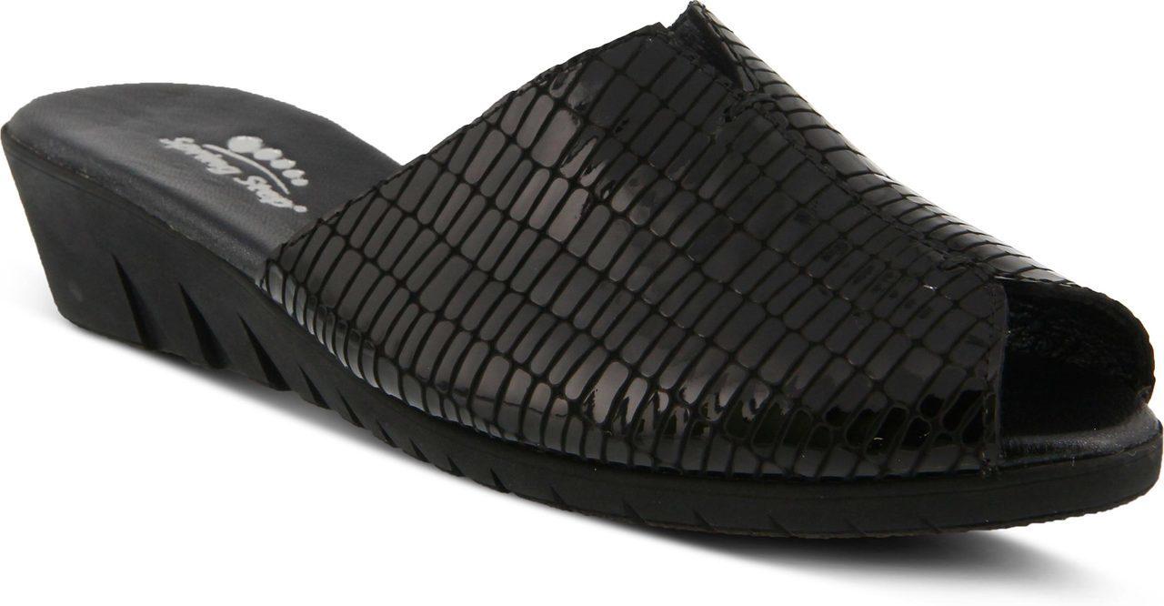 Spring Step Dejen in Black Croco Patent