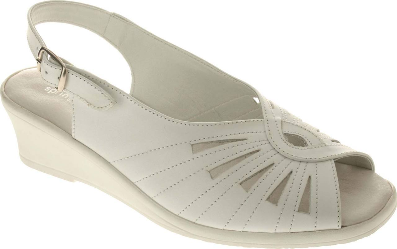 Spring Step Gail in White Leather
