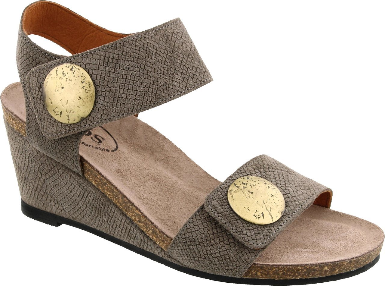 Taos Carousel 2 in Taupe Embossed Suede