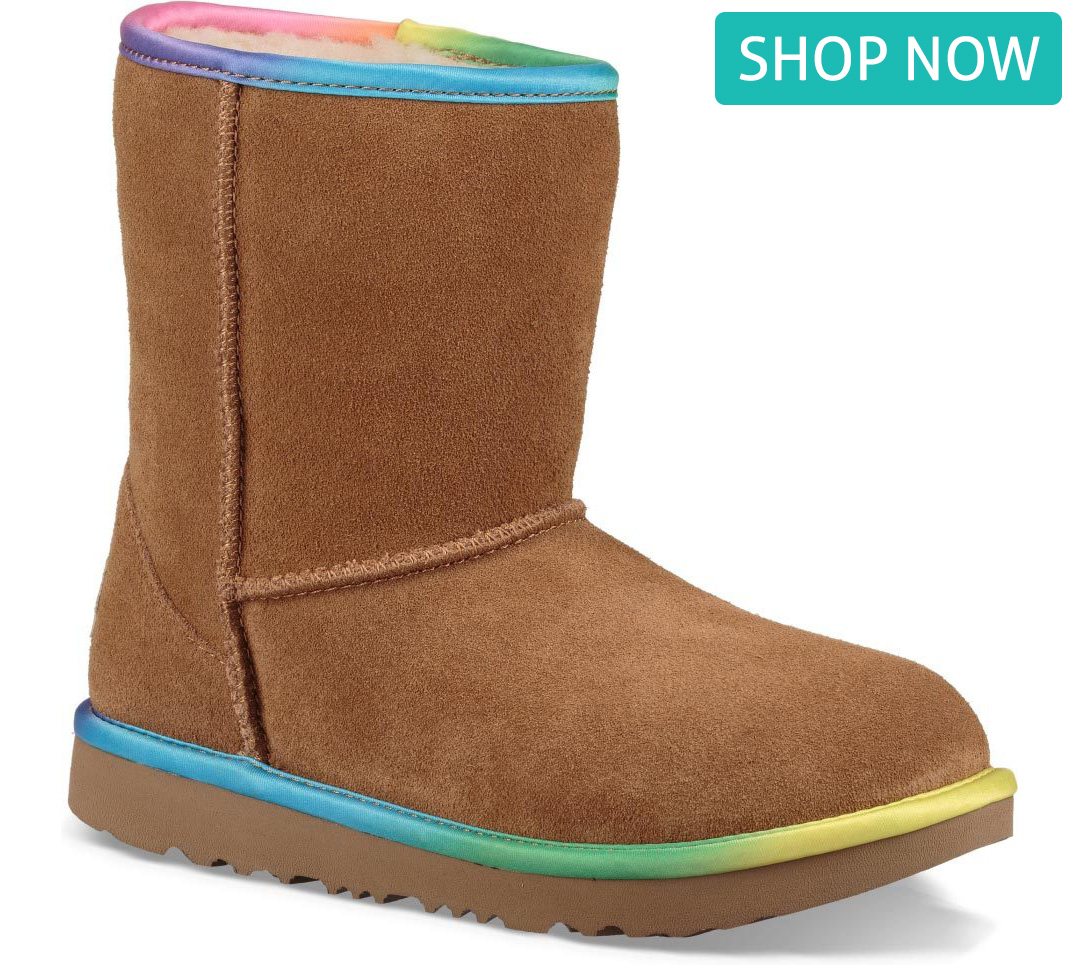 UGG Toddlers' Classic Short II Rainbow in Chestnut