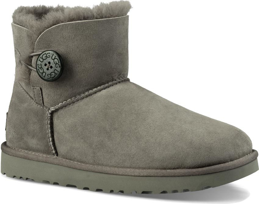 UGG Mini Bailey Button II in Grey