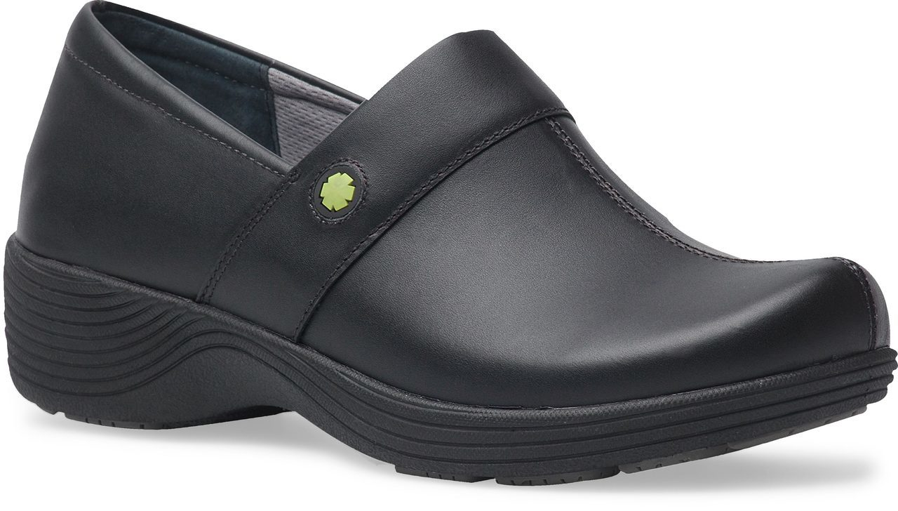 Work Wonders by Dansko Camellia in Black Leather