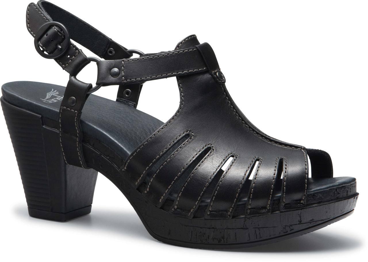 Black dansko sandals - Black Full Grain Leather
