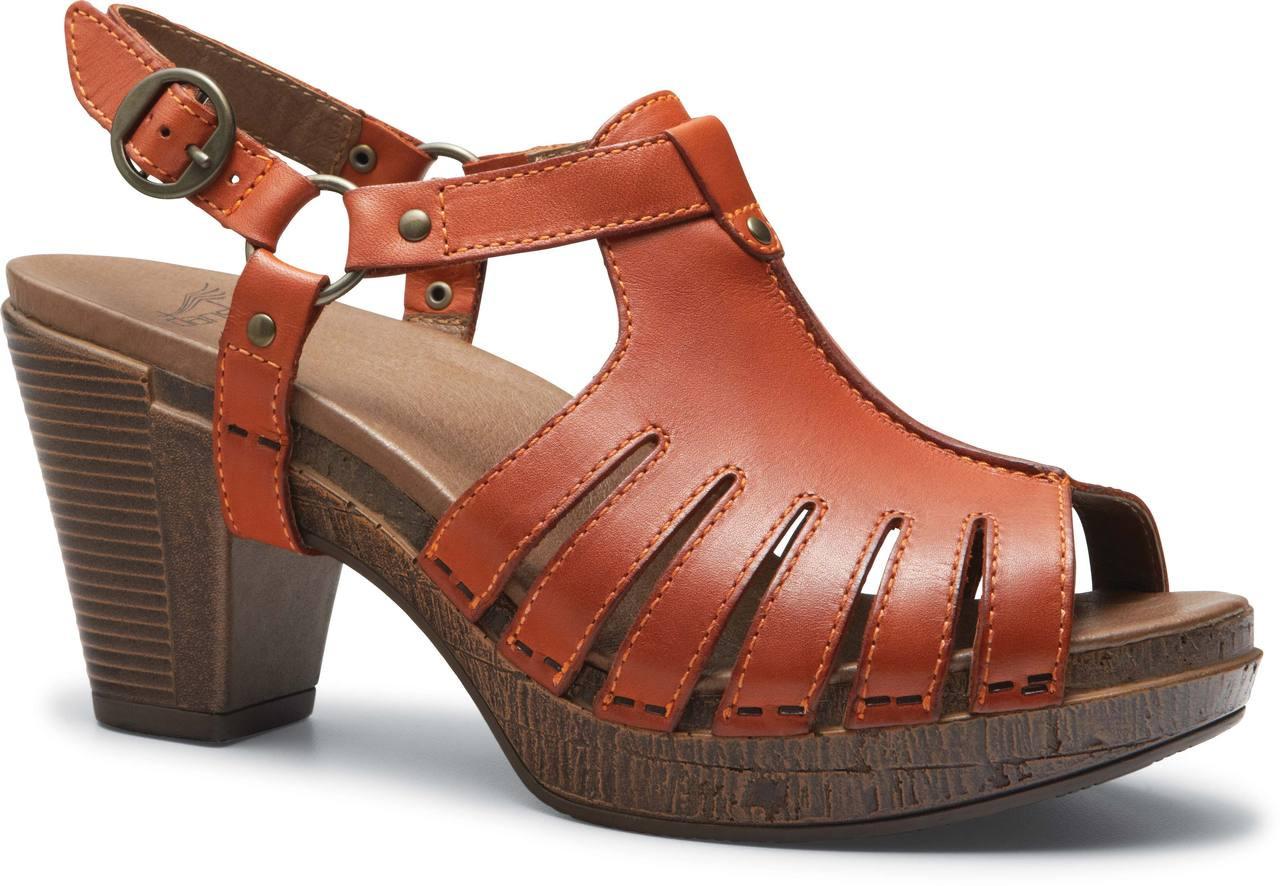 Black Full Grain Leather · Tangerine Full Grain Leather