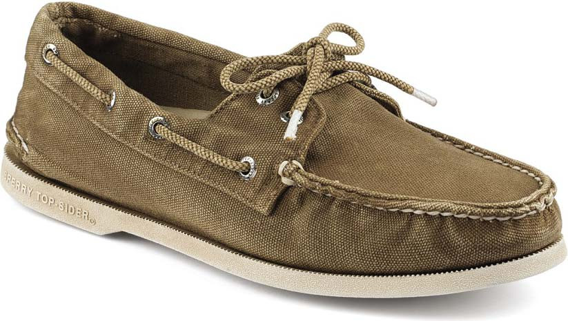 Sperry Top-Sider Men's Authentic Original Color Washed Canvas 2-Eye - FREE  Shipping & FREE Returns - Boat Shoes, Slip-On Shoes