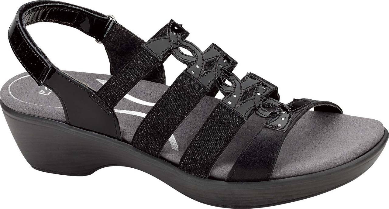 Home · Women's Shoe Styles · Sandals · Ankle Strap Sandals; Naot Malbec. Black  Patent/Shiny Black Leather