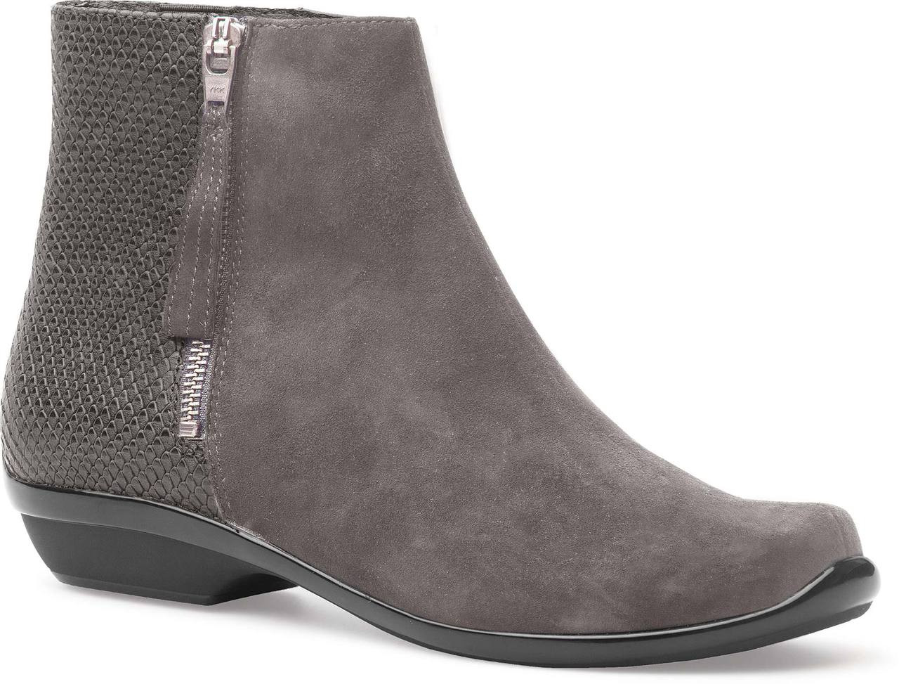 Grey Kid Suede Leather