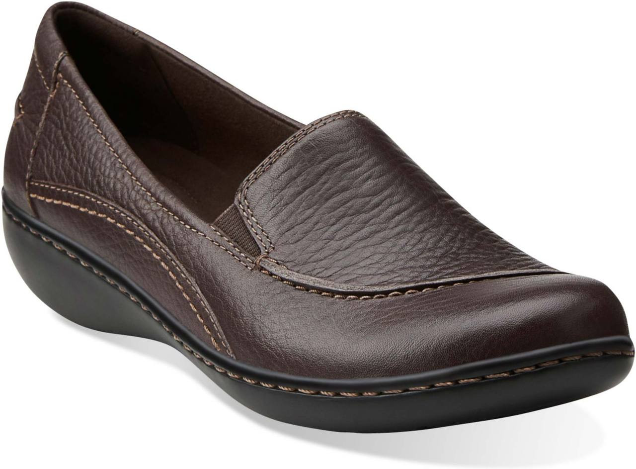 ... Shoes; Clarks Women's Ashland Violet. Black Tumbled Leather · Black  Tumbled Leather · Brown Tumbled Leather ...