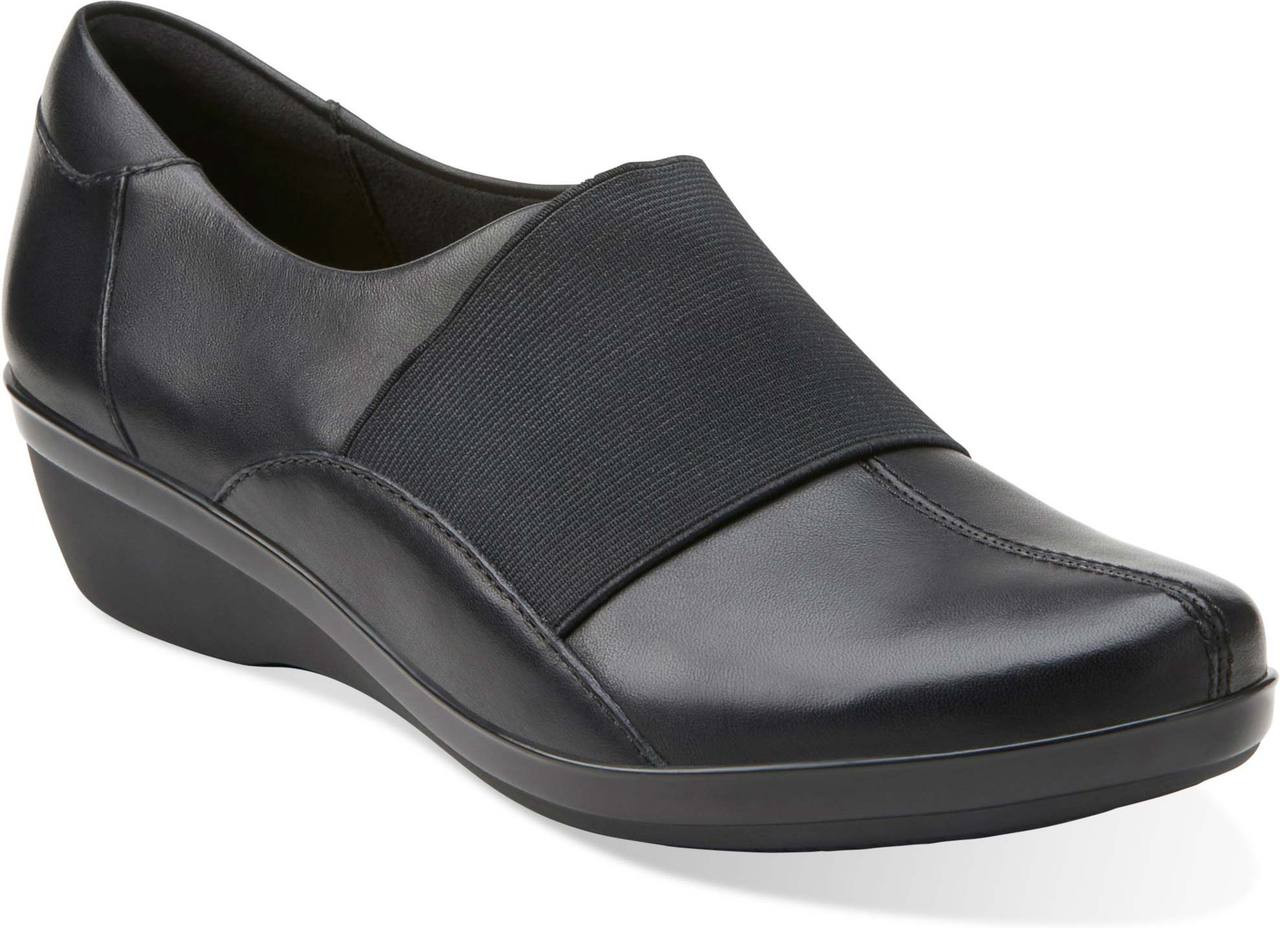 Womens Shoes Clarks Foxvale Spell Black Leather