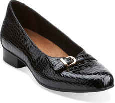 Black Croc Patent Leather