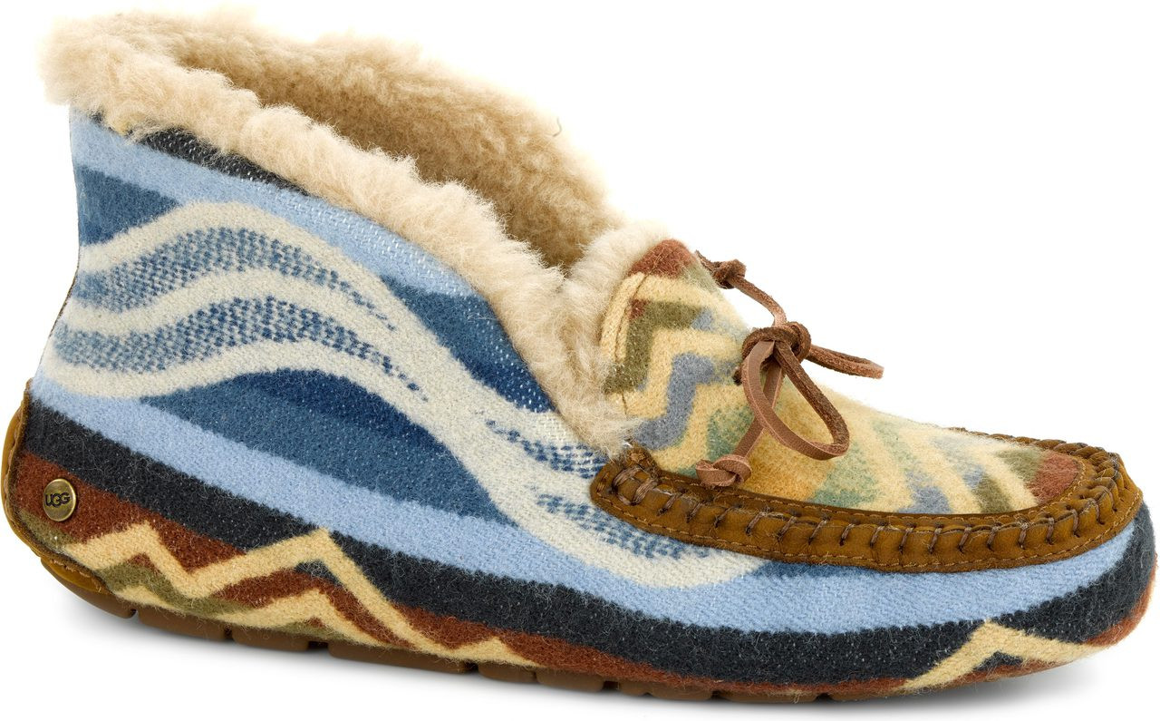 Womens Slippers UGG Alena Pendleton Chestnut