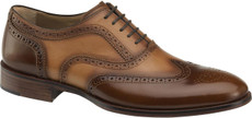 Brown Brush-Off/Dark Tan Calfskin
