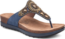 Blue Jewelled Suede