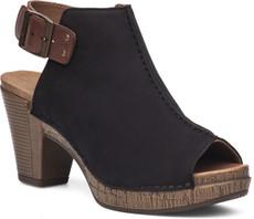 Black Milled Nubuck Leather