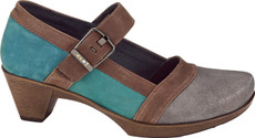 Gray Shimmer/Teal Nubuck/Carob Brown Leather