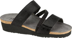 Black Snake Leather with Black Rhinestones