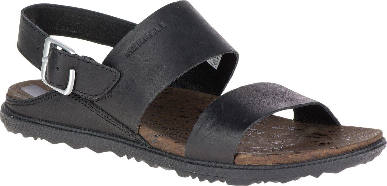 Black merrell sandals - Black