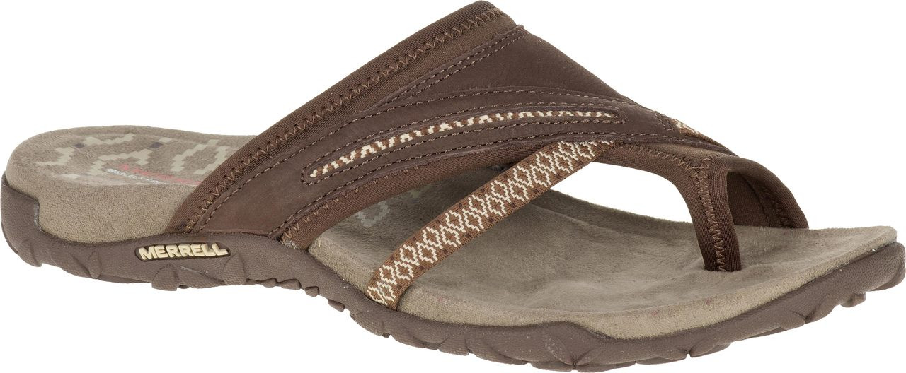 ... Sandals; Merrell Women's Terran Post II. Black. Black; Dark Earth;  Fuchsia ...