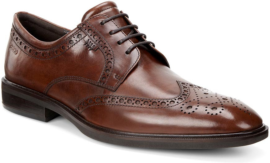 ... Dress Shoes · Wingtips; ECCO Men's Illinois Wing Tip Tie. Cognac