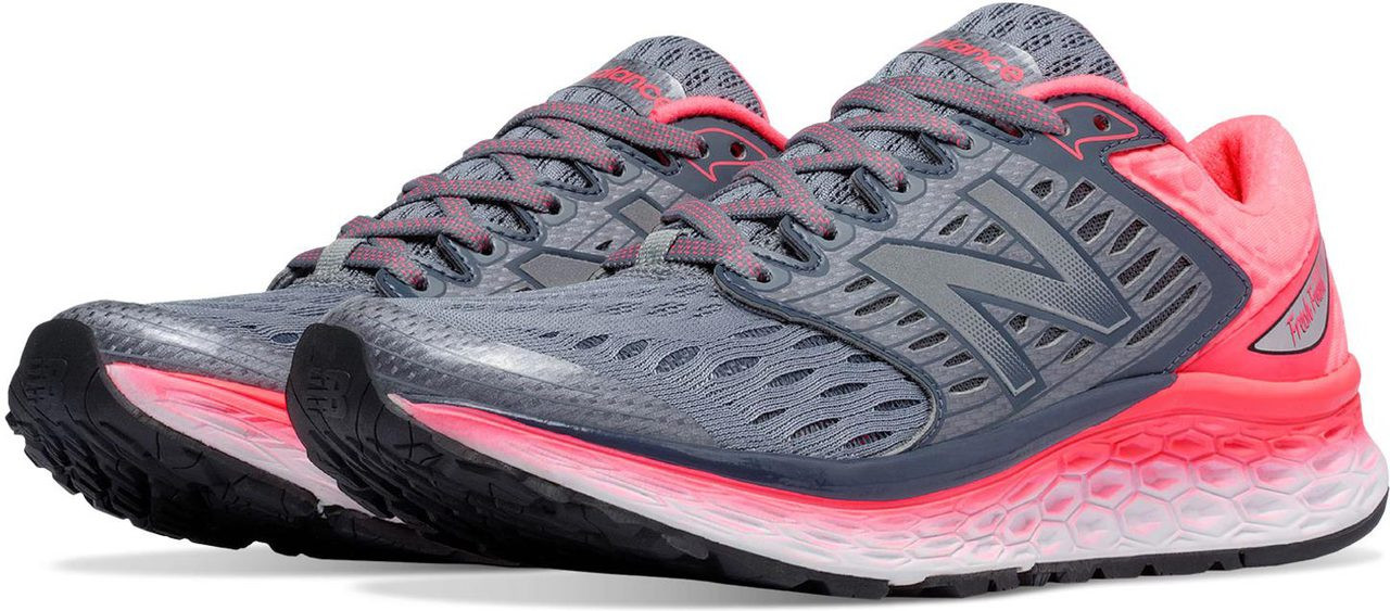 ... Athletic Shoes; New Balance Women\u0027s Fresh Foam 1080. Blue with White �  Blue with White � Dragonfly with Grey � Freshwater with Icarus � Silver  with Pink ...