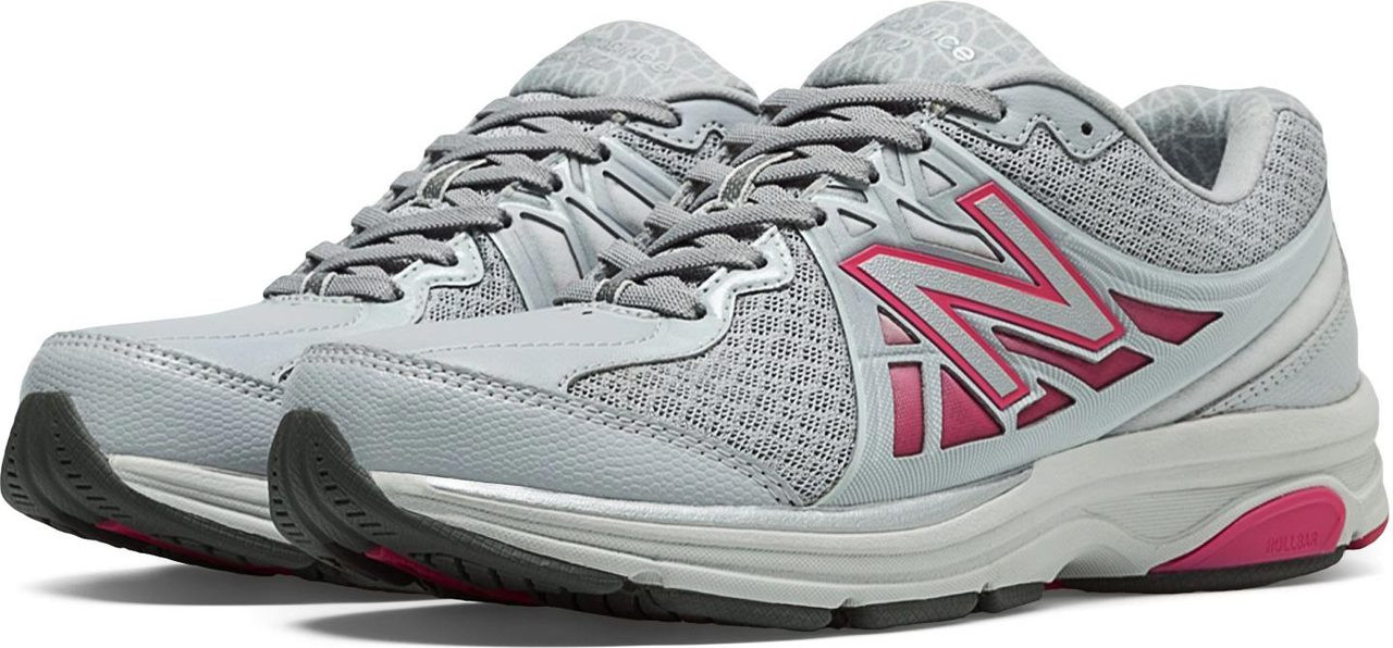 ... Walking Shoes; New Balance Women's 847v2. Grey with Exuberant Pink