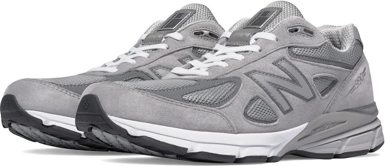 ... Running Shoes; New Balance Men\u0027s 990v4. Grey with Castlerock