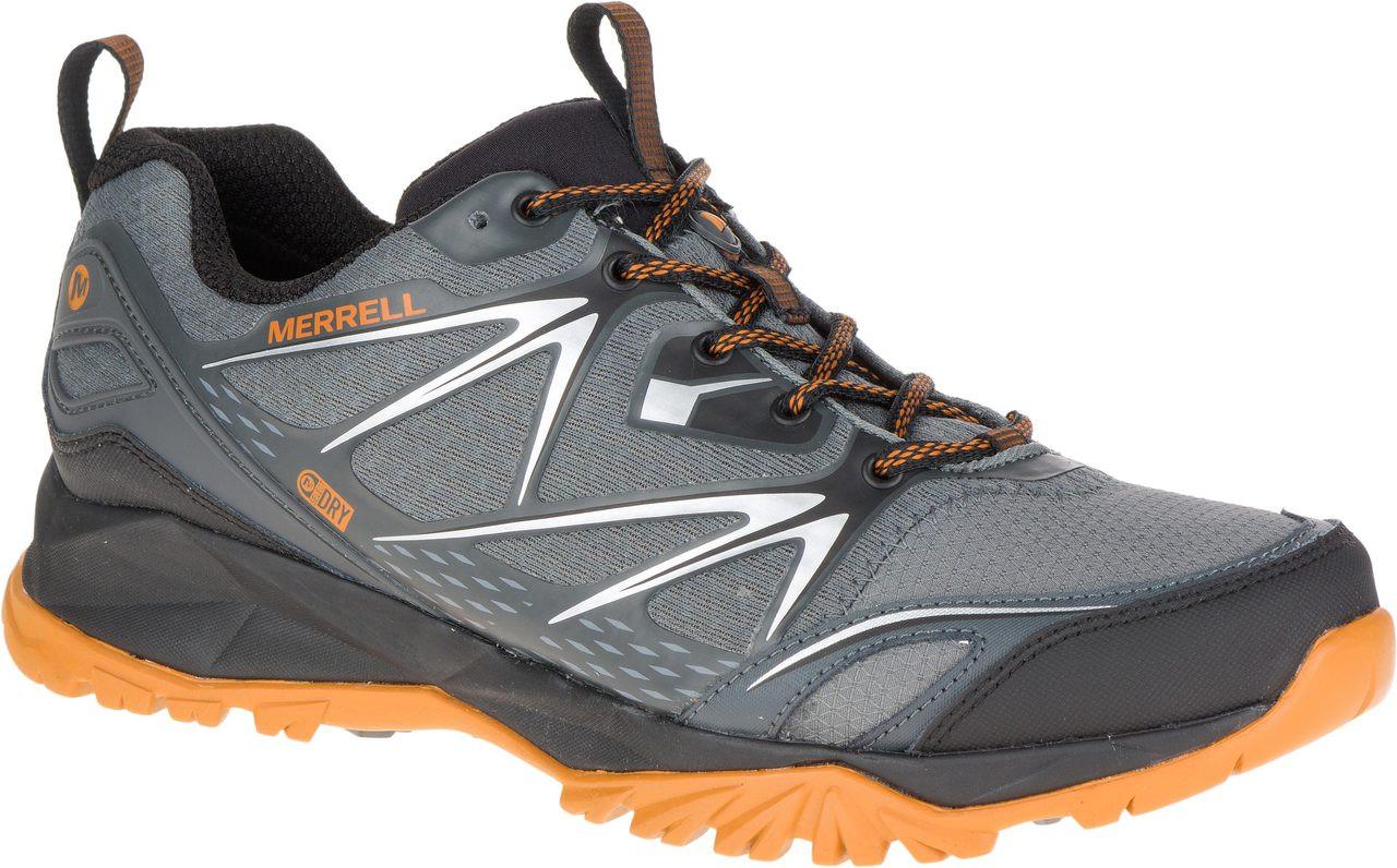 ... Hiking Shoes; Merrell Men's Capra Bolt Waterproof. Black/Navy ·  Black/Navy · Grey/Orange