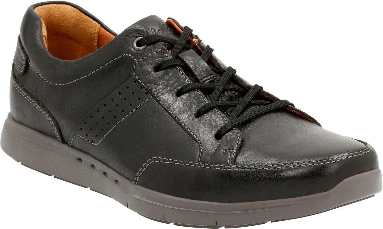 Men'S Clarks Black Leather Unlomac Lace