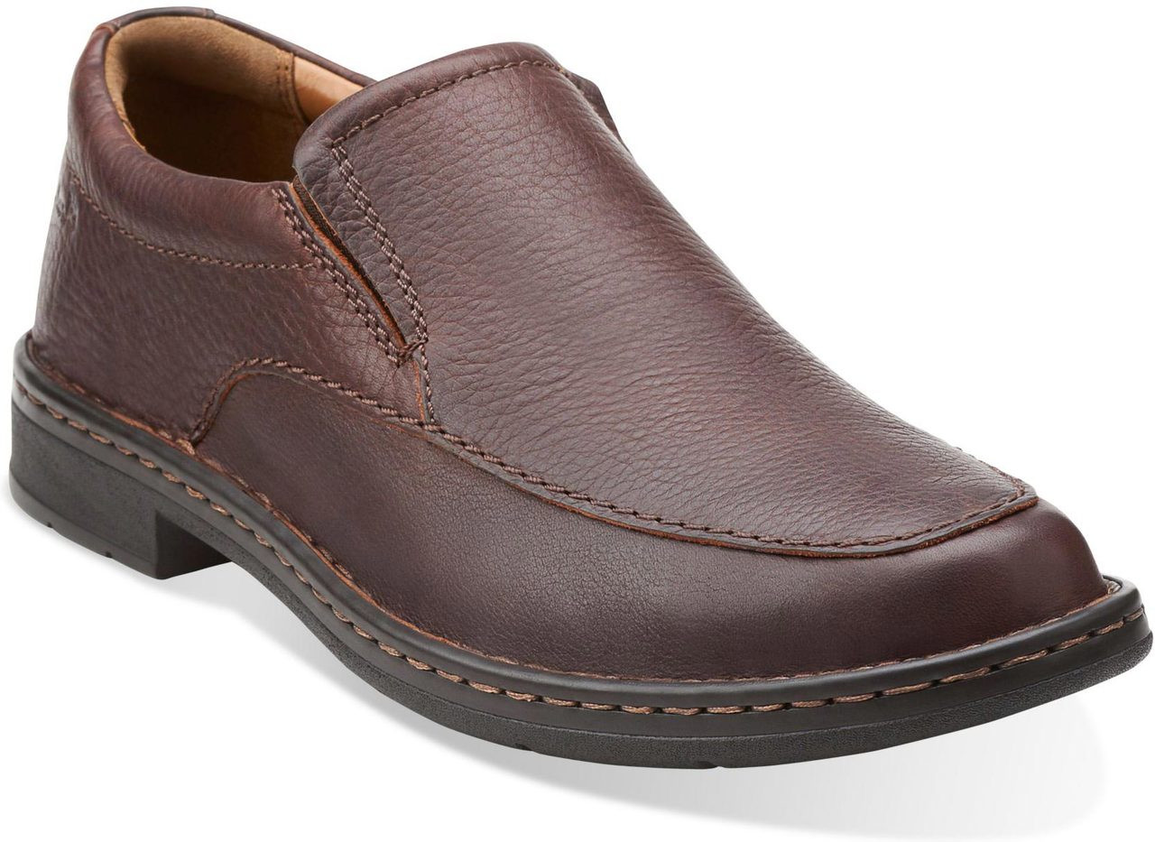 ... Slip-Ons; Clarks Men's Kyros Free. Brown Tumbled Leather