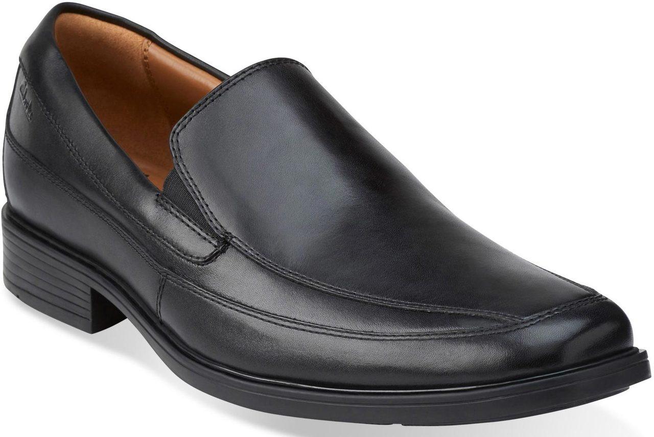 clarks mens black loafers