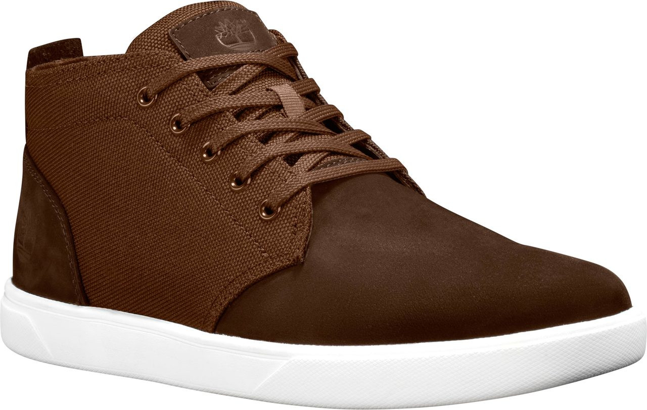 ... Timberland Men's Groveton Chukka Shoes. Medium Brown Nubuck/Canvas