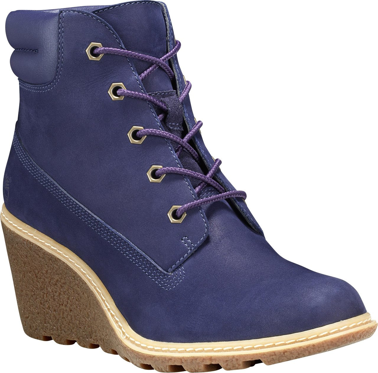Boots; Timberland Women's Amston 6Inch  Dark Blue Nubuck