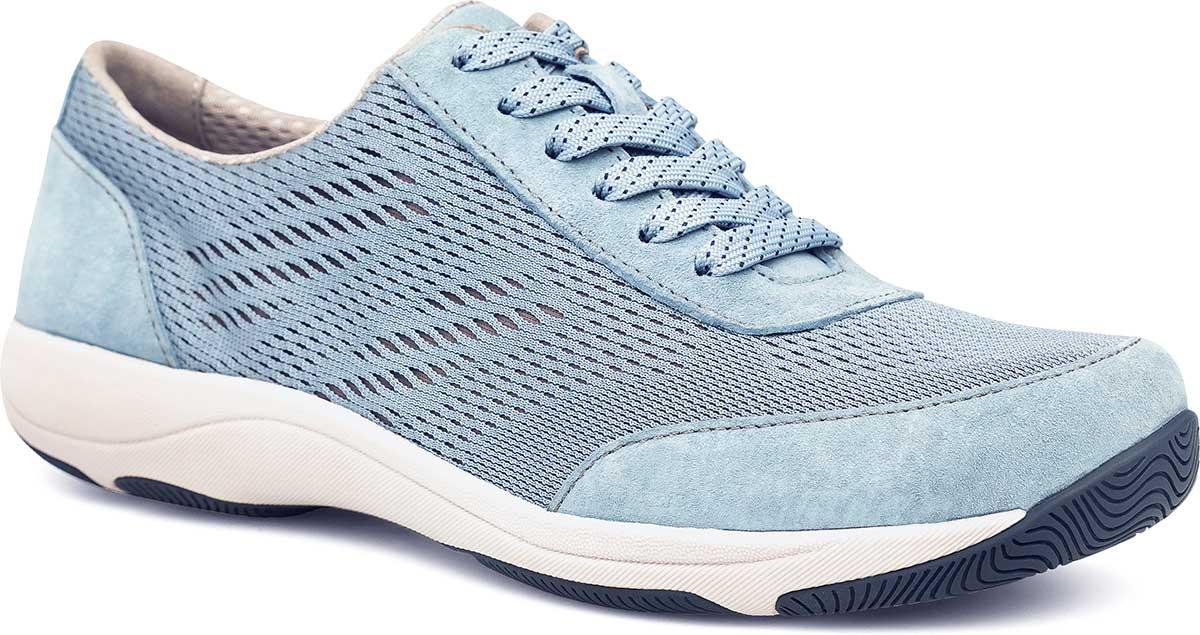 Light Blue Suede Leather