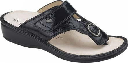 Black Patent Leather with Soft Footbed