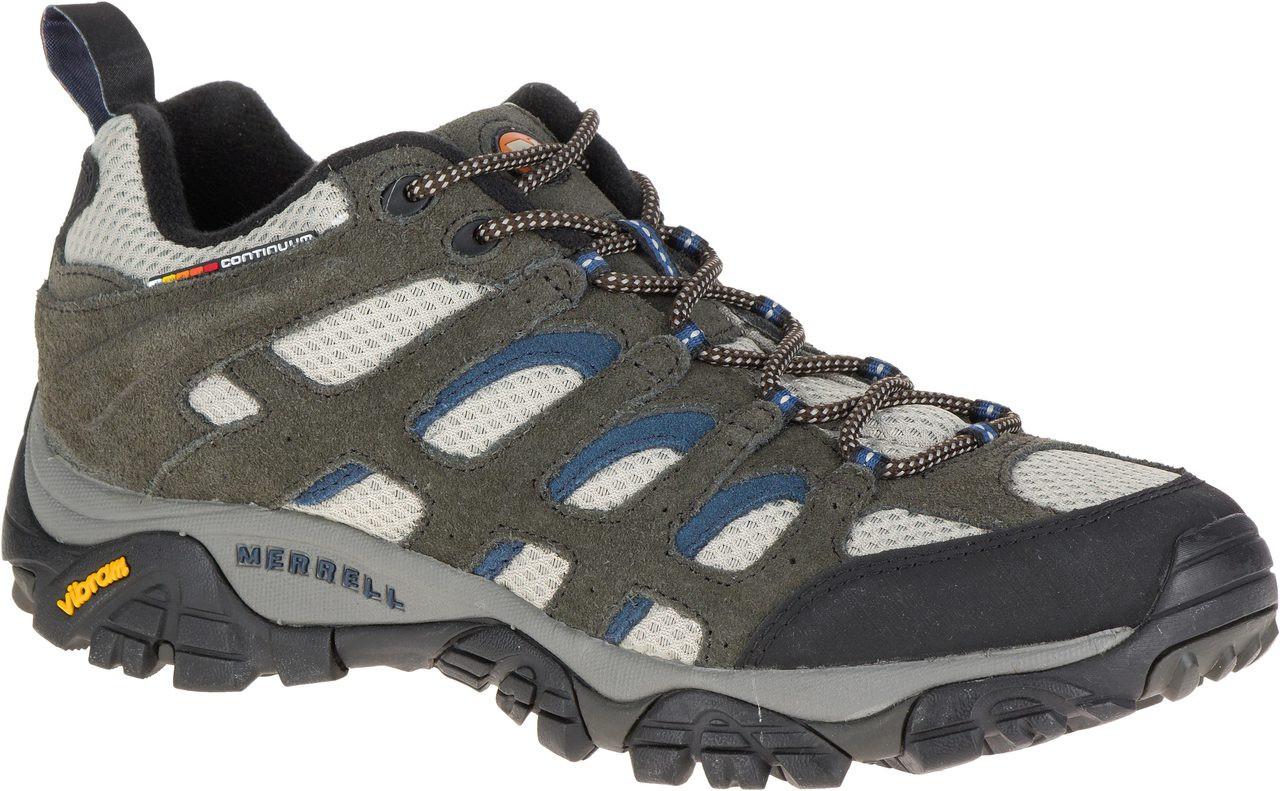 ... Hiking Boots; Merrell Men's Moab Ventilator. Beluga/Denim Blue