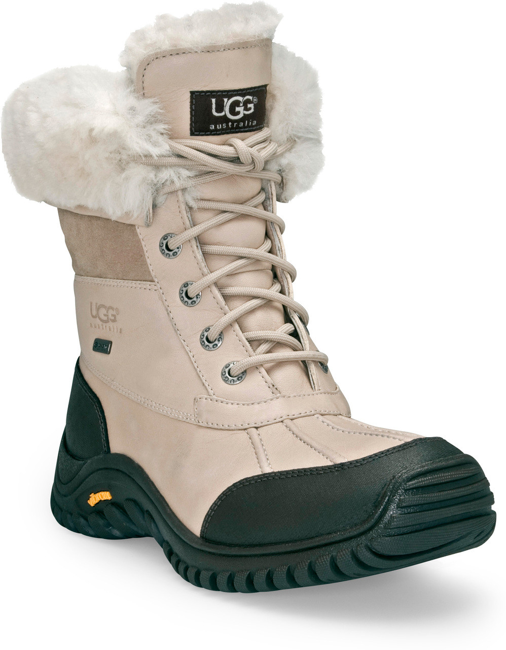 ... Boots; UGG Women's Adirondack Boot II. Black. Black; Black/Grey;  Charcoal; Chocolate; Obsidian; Otter; Sand; Stout; White