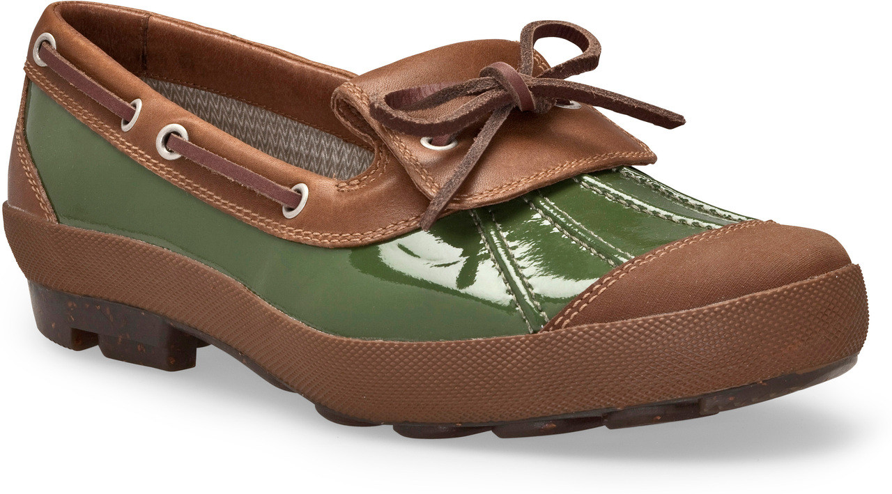 Chive Patent/Chocolate Leather