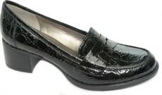 Black Croco Shiny Leather