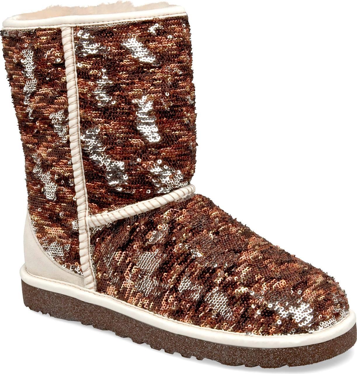 ... Knee Boots; UGG Australia Women's Classic Short Sparkles (Available in  Multiple Colors). Autumn Camo. Autumn Camo; Black; Blue; Champagne ...