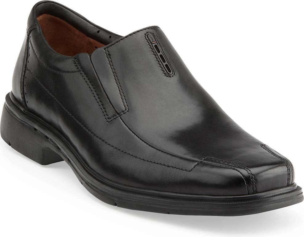 ... Clarks Unstructured Men's Un.Sheridan. Black Leather