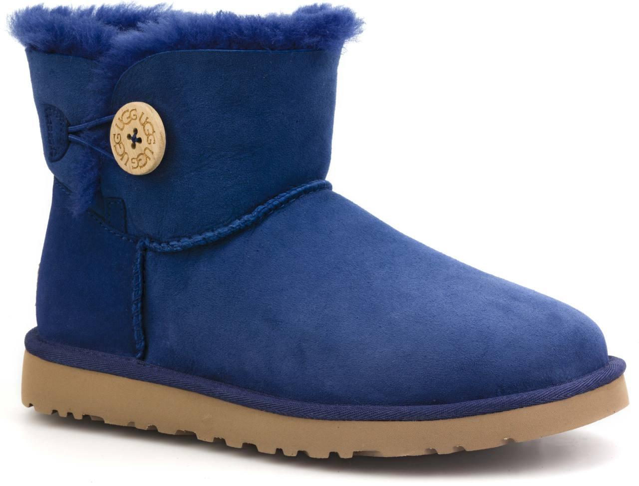 Ugg Boots Bailey Button Mini Blau