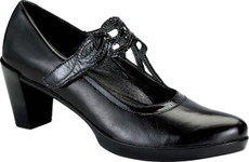 Black Madras Leather/Black Crinkle Patent Leather