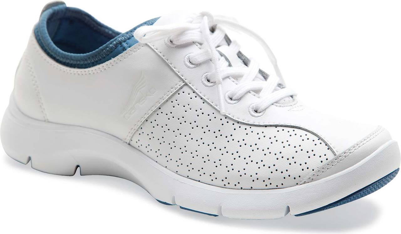 ... White Blue Smooth Leather