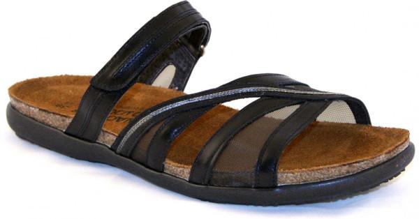 Black Madras Leather/Grey Mesh