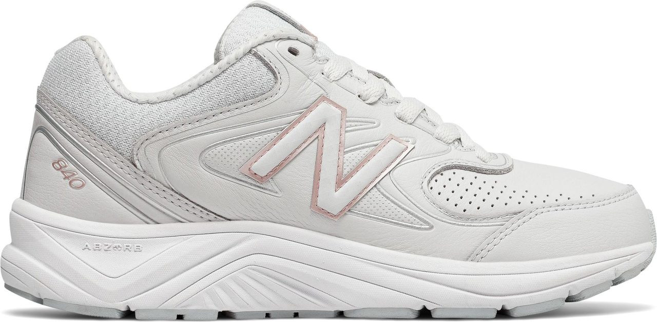 ... Sneakers \u0026 Athletic; New Balance Women\u0027s 840v2. White with Rose Gold