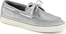 Silver Sparkle Suede/Grey Patent