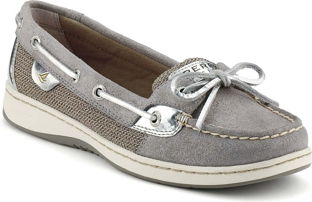 Grey Sparkle Suede/Silver